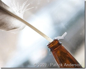 feather in bottle