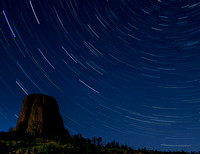 Devils Tower Star Trails